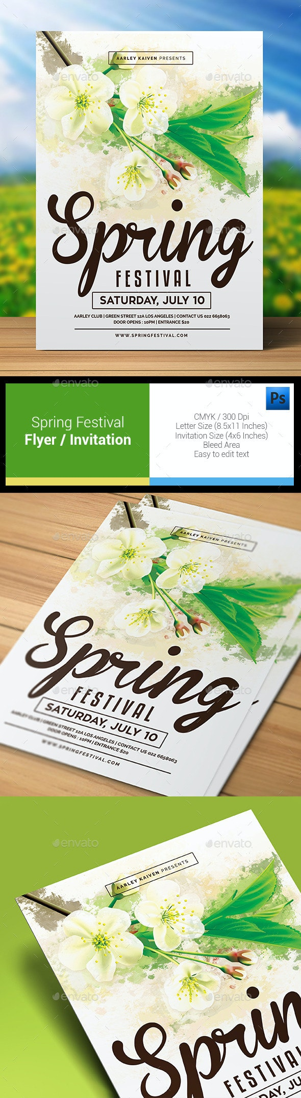 Spring Festival Flyer / Invitation - Clubs & Parties Events