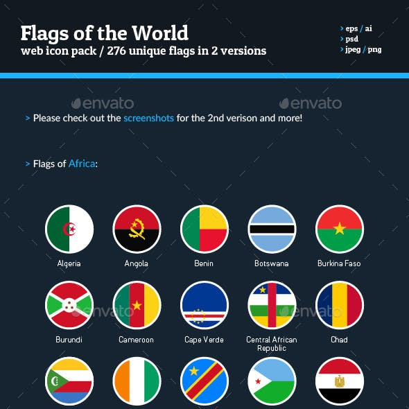Flags of the World - Flag Icon Bundle