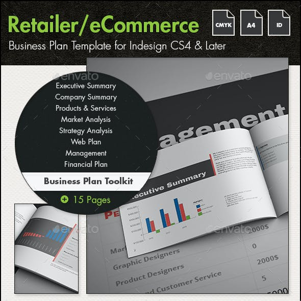 eCommerce/Retailer Business Plan Toolkit - A4
