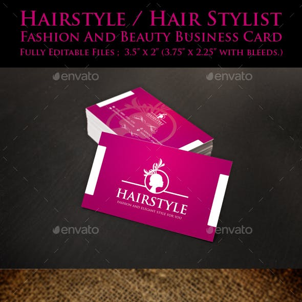 Hairstyle / Hair Stylist / Salon Business Card