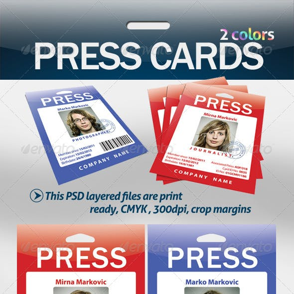 Press Cards / Pass