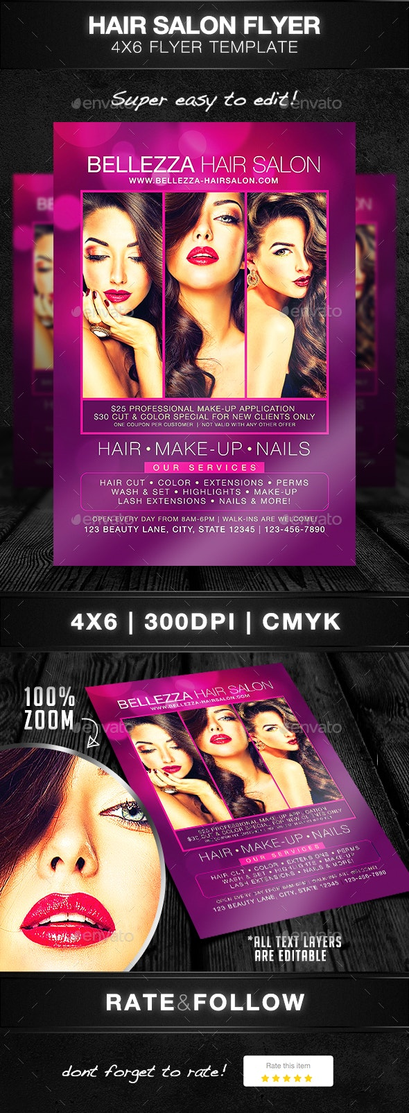 Hair Salon Flyer Template - Commerce Flyers