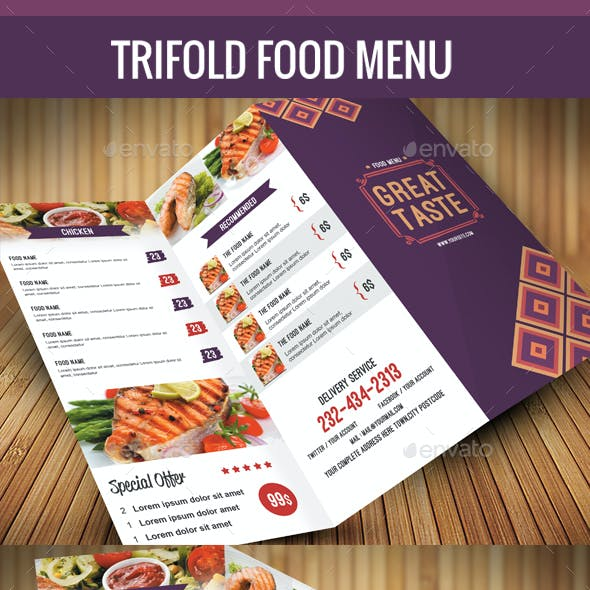 Trifold Food Menu 02