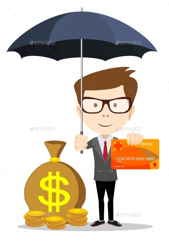Man Protecting His Money - Concepts Business