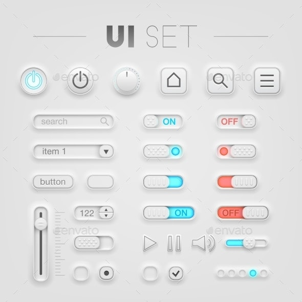 White UI Set - Web Technology