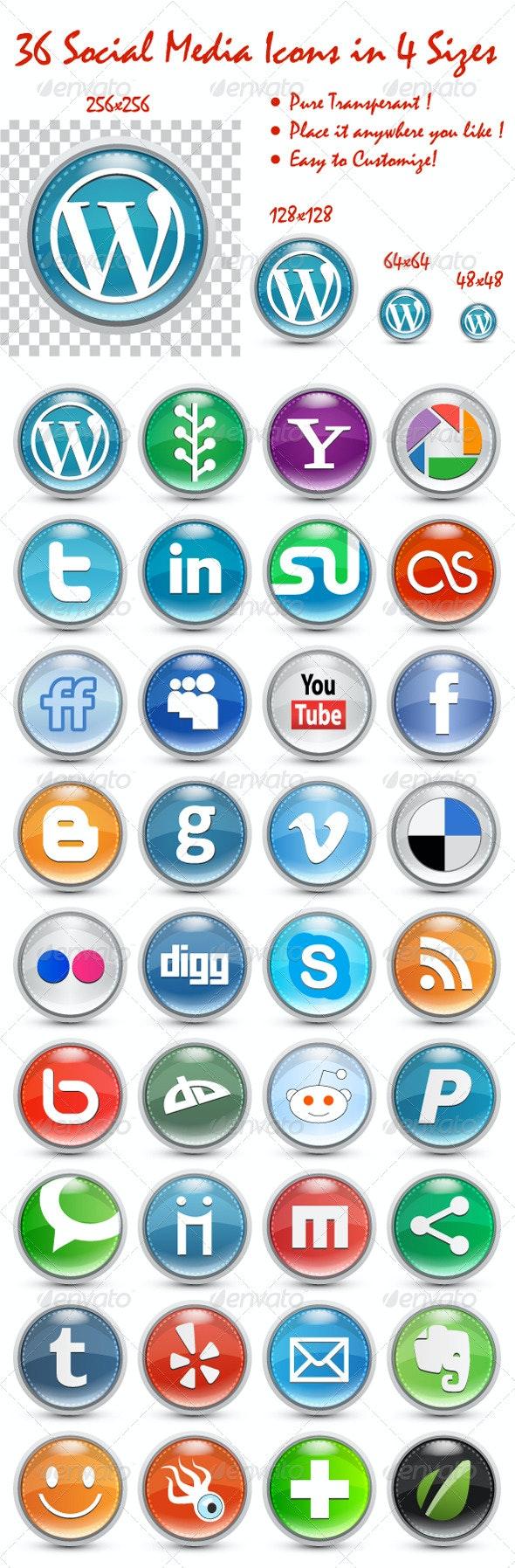 Social Media Icon Set - Web Icons