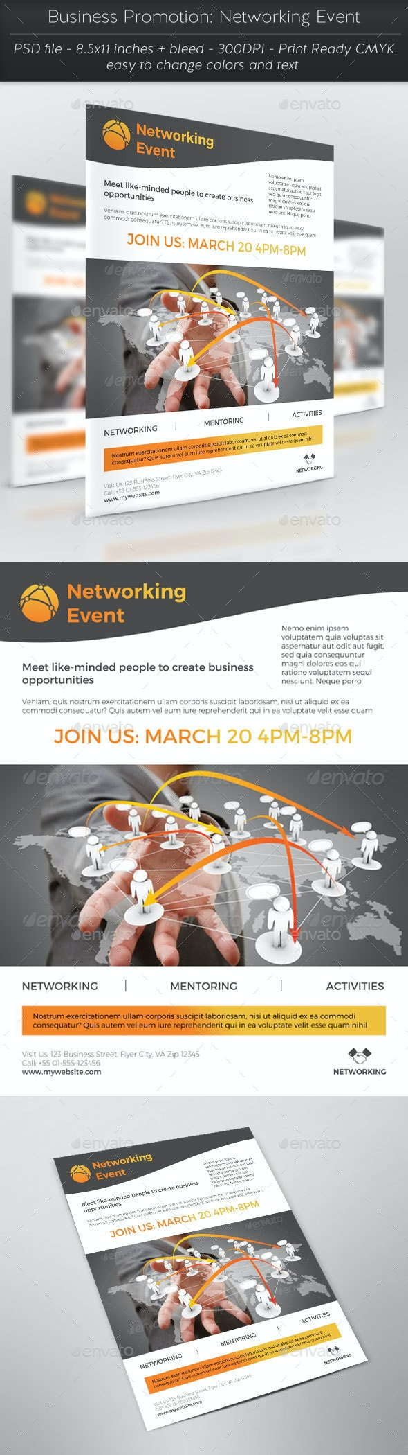 Business Promotion: Networking Event - Corporate Flyers