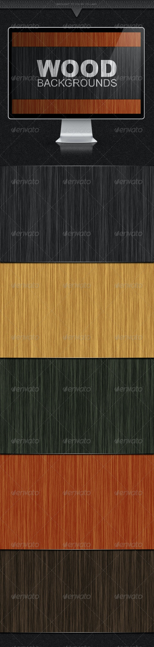 5 Wood Backgrounds - Backgrounds Graphics