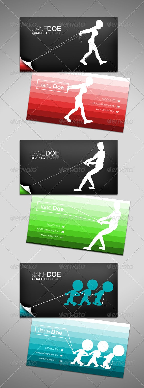 Business Cards - Pull (3 Individual Designs)  - Creative Business Cards