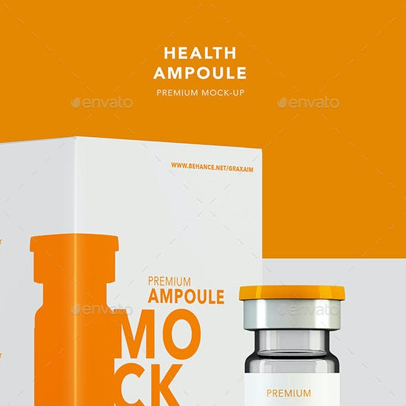 Health Ampoule Pack Mockup