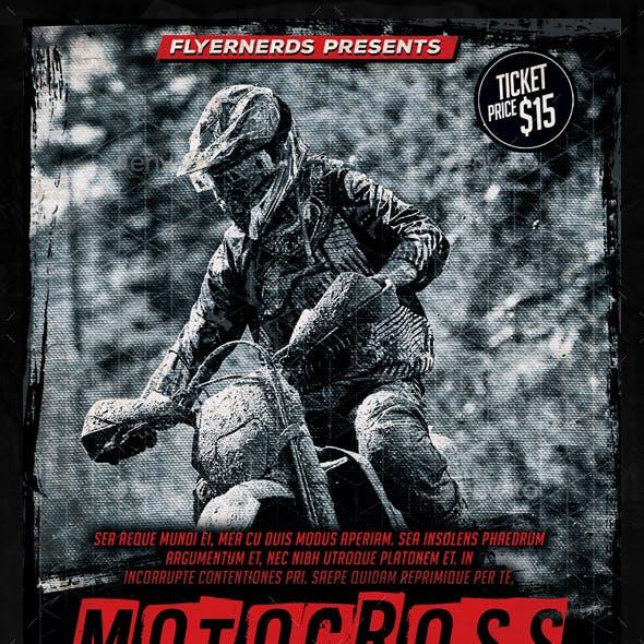 Motocross Championships Sports Flyer