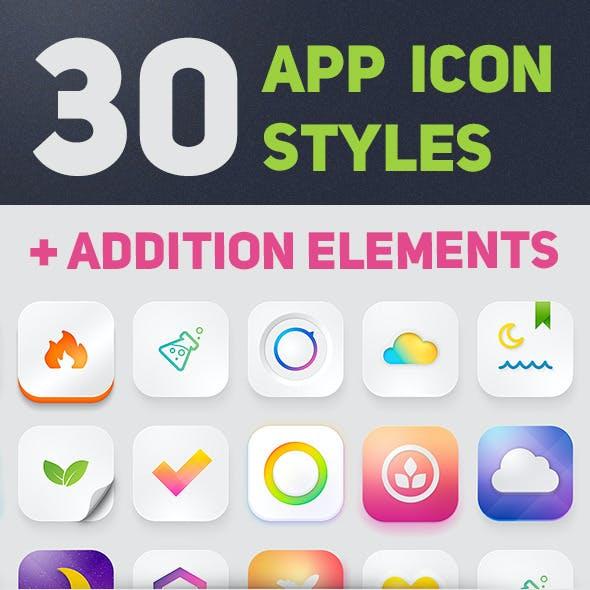 30 App Icon Styles