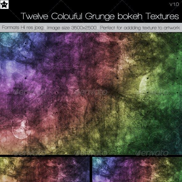 12 Colourful Grunge Broken Textures
