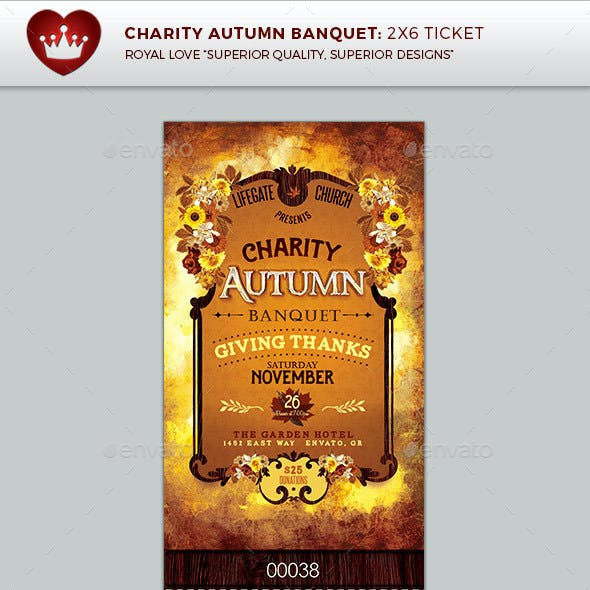 Charity Autumn Banquet Ticket