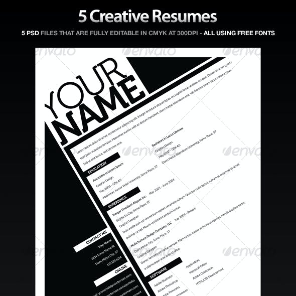 Resumes (5 Pack)