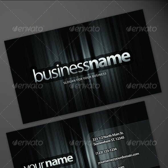 Sleek Business Card (7 colors)