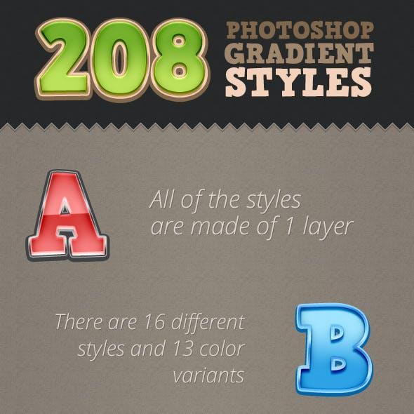 208 Photoshop Styles - Gradient Edition
