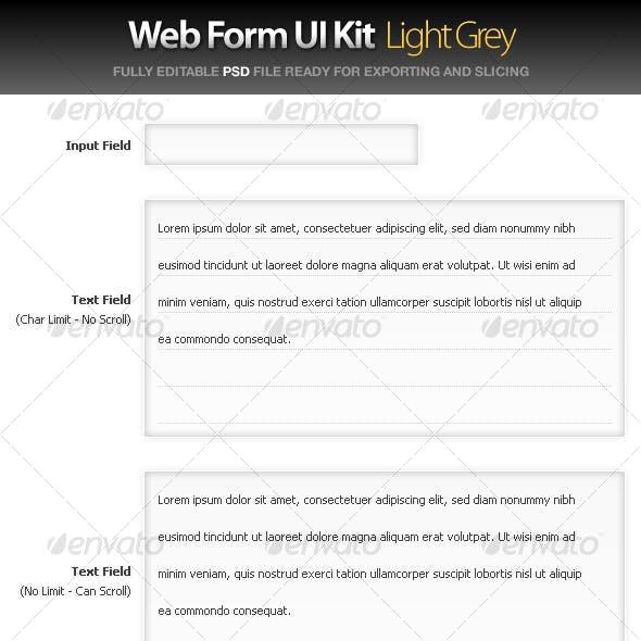Web Form UI Kit - Large Grey