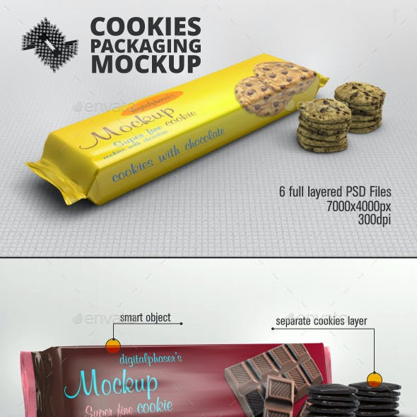 Cookies Foil Packaging Mockup