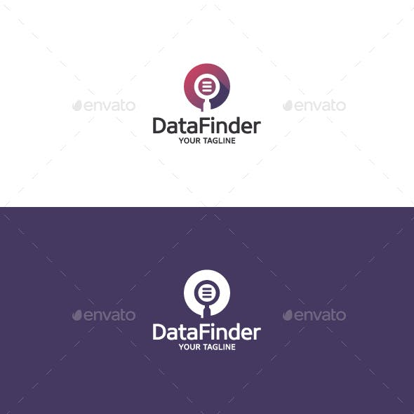 Data Finder - Magnifying Glass Logo
