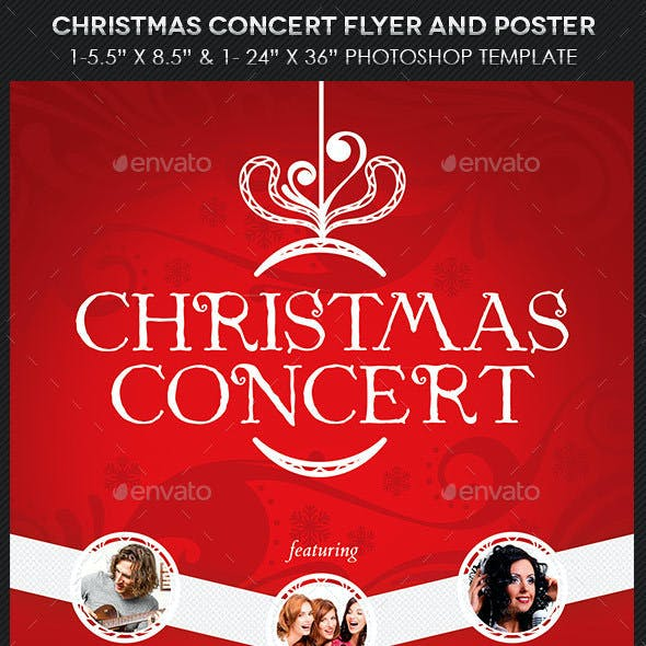 Christmas Concert Flyer Poster Template