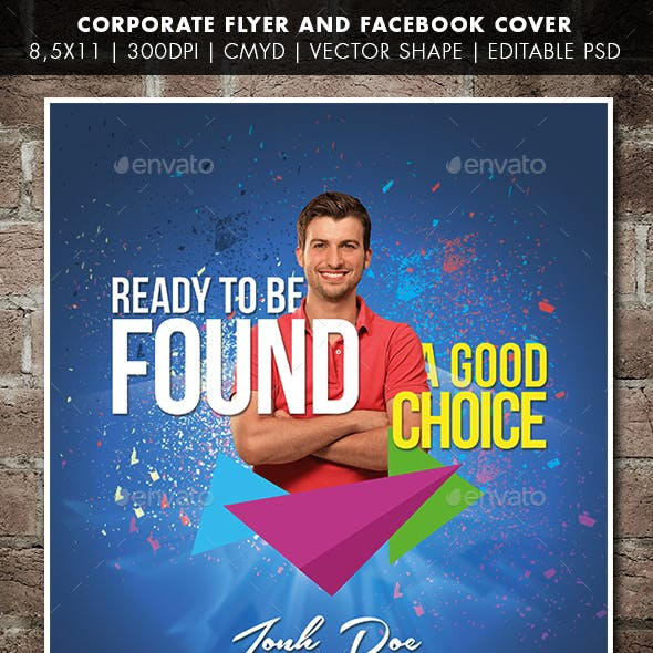 Corporate Flyer And Facebook Cover