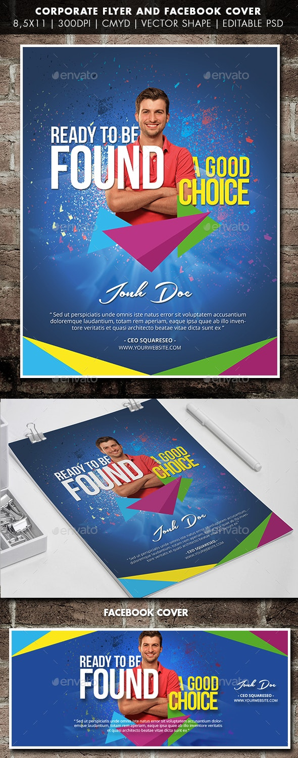 Corporate Flyer And Facebook Cover - Corporate Flyers