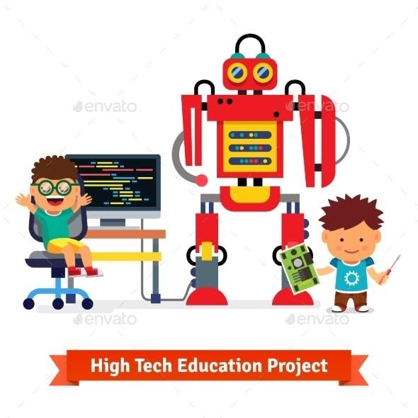 Kids Making and Programming Robot