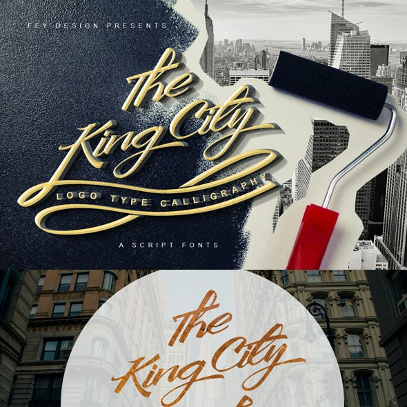 King City - Logo Type Modern Callygraphy