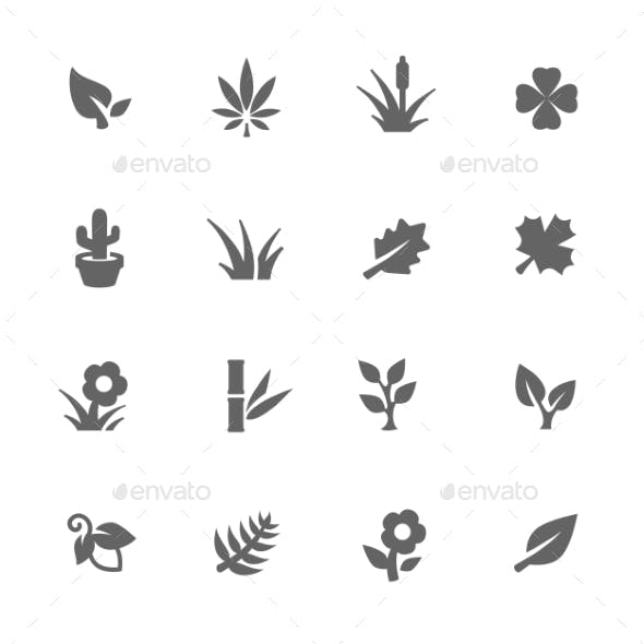 Simple Plants Icons