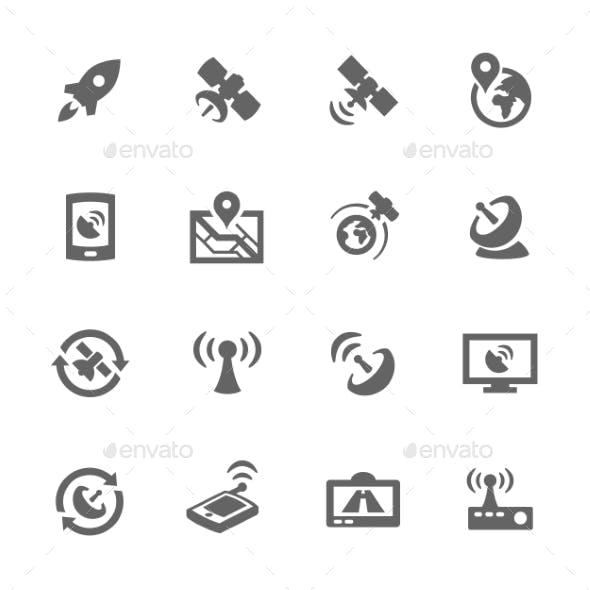 Simple Satellite Icons