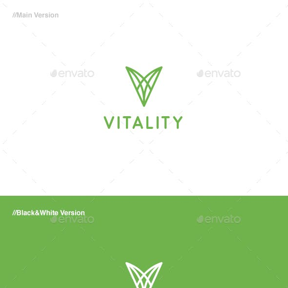 Vitality - Letter V Logo