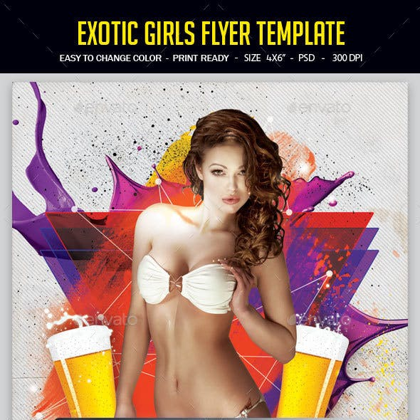 Exotic Girls Flyer Template