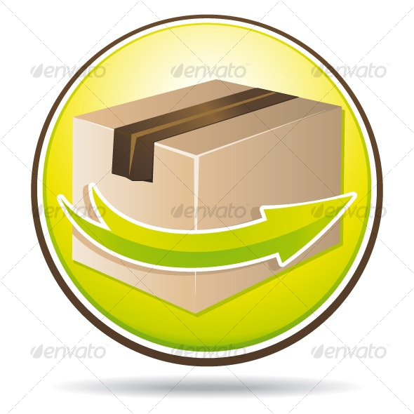 Green delivery icon - Web Icons