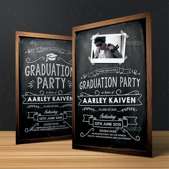 Blackboard Graduation Invitation