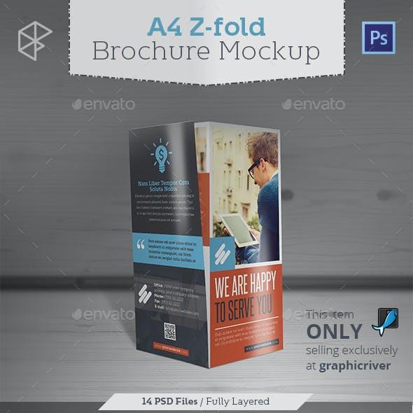 A4 Z-fold Brochure Mockup