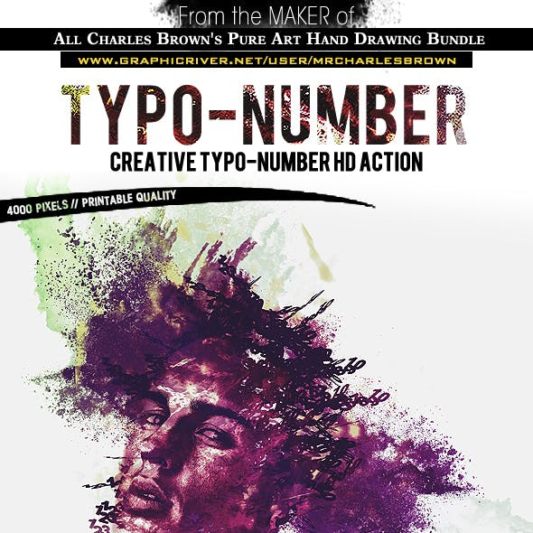 Creative Typo-Number HD Action