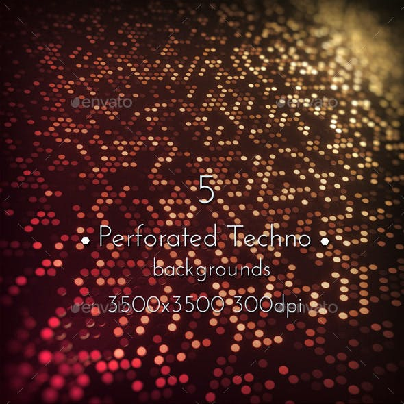 Digital Perforated Techno Backgrounds