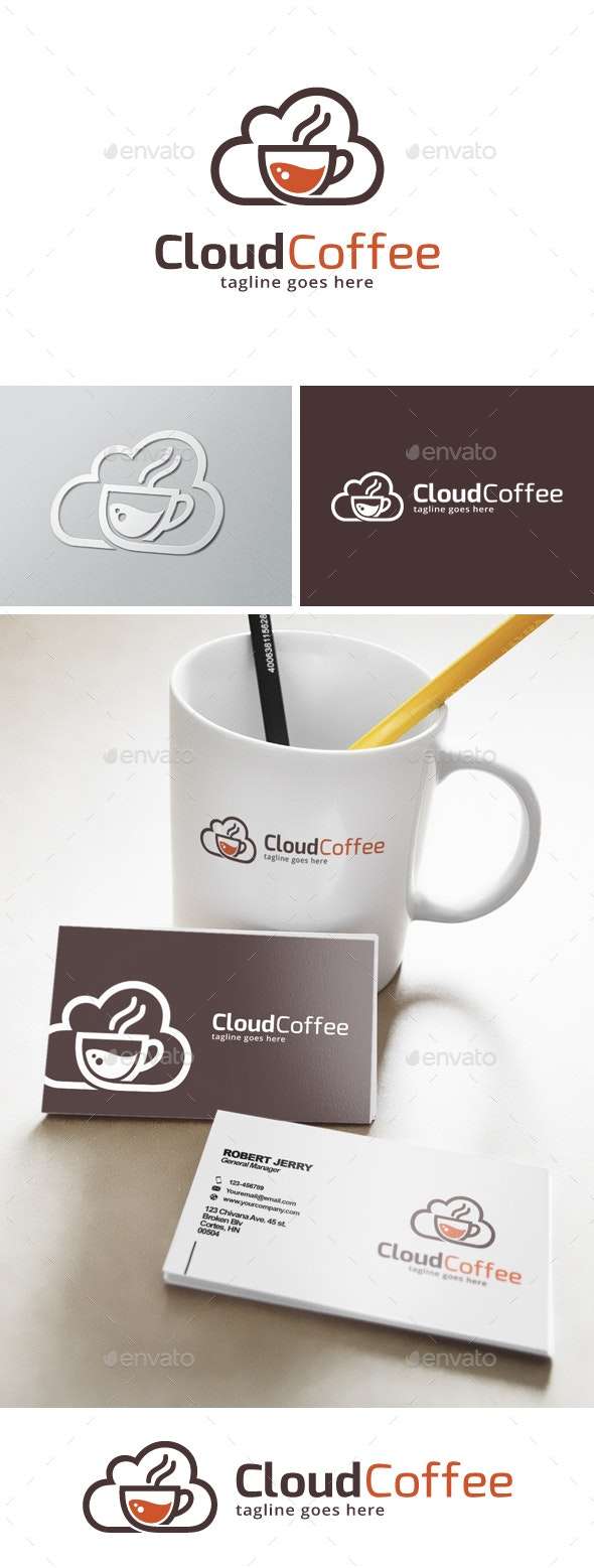 Cloud Coffee Logo  - Food Logo Templates