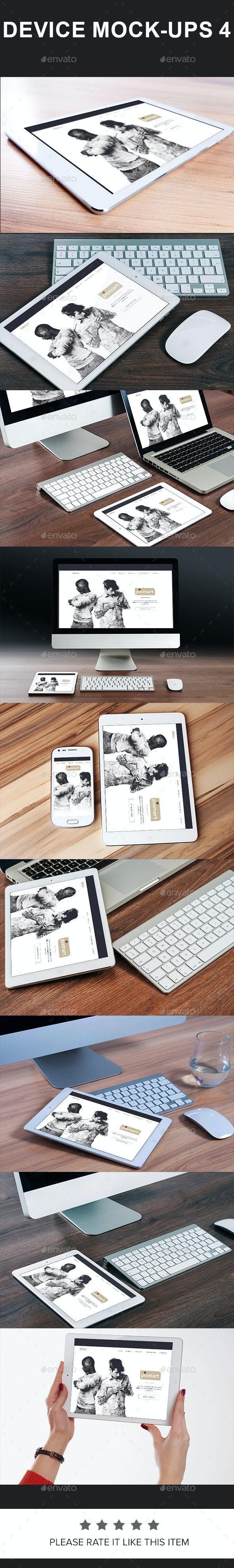 Device Mock-Ups 4 - Displays Product Mock-Ups