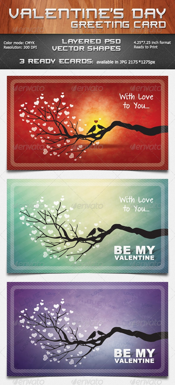 Valentine's Day Greeting Card - Holiday Greeting Cards