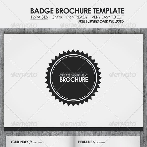 Badge - Brochure / Presentation Template
