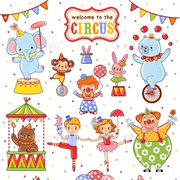 Cute Vector Collection Of Circus.