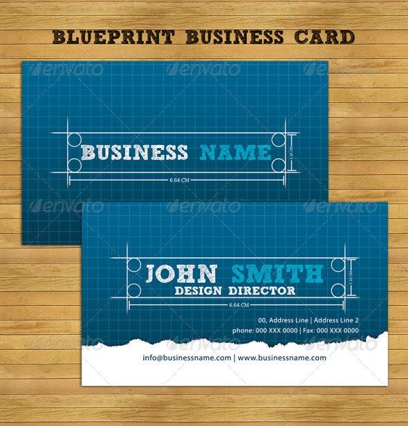 Blueprint Business Card - Creative Business Cards