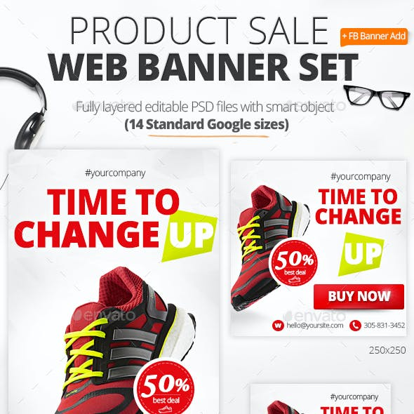 Product Sale Sport Shoes Web Banners