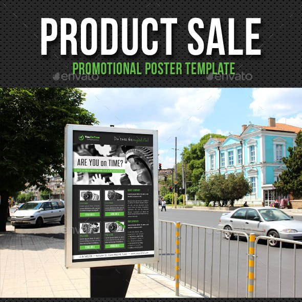 Product Sale Promotion Poster Template V03