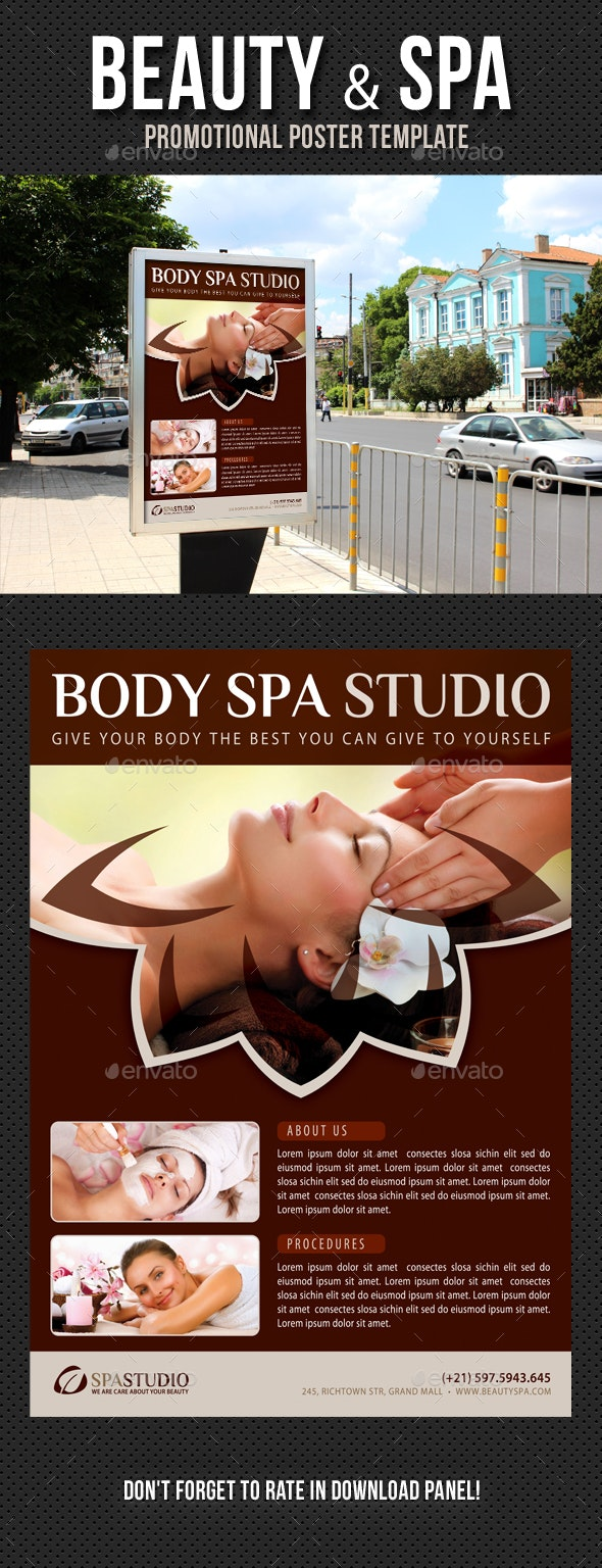 Beauty and Spa Poster Template V04