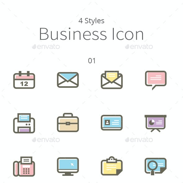 4 Sets of Business Icons