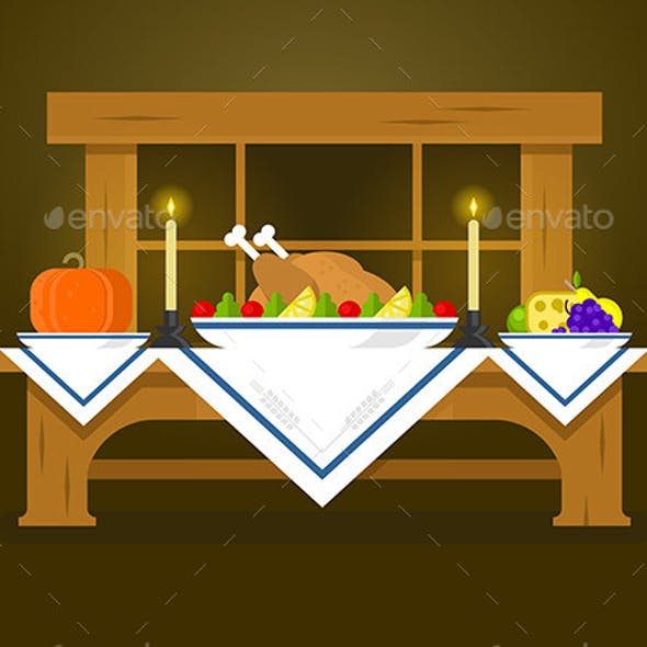 Holiday Table for Thanksgiving