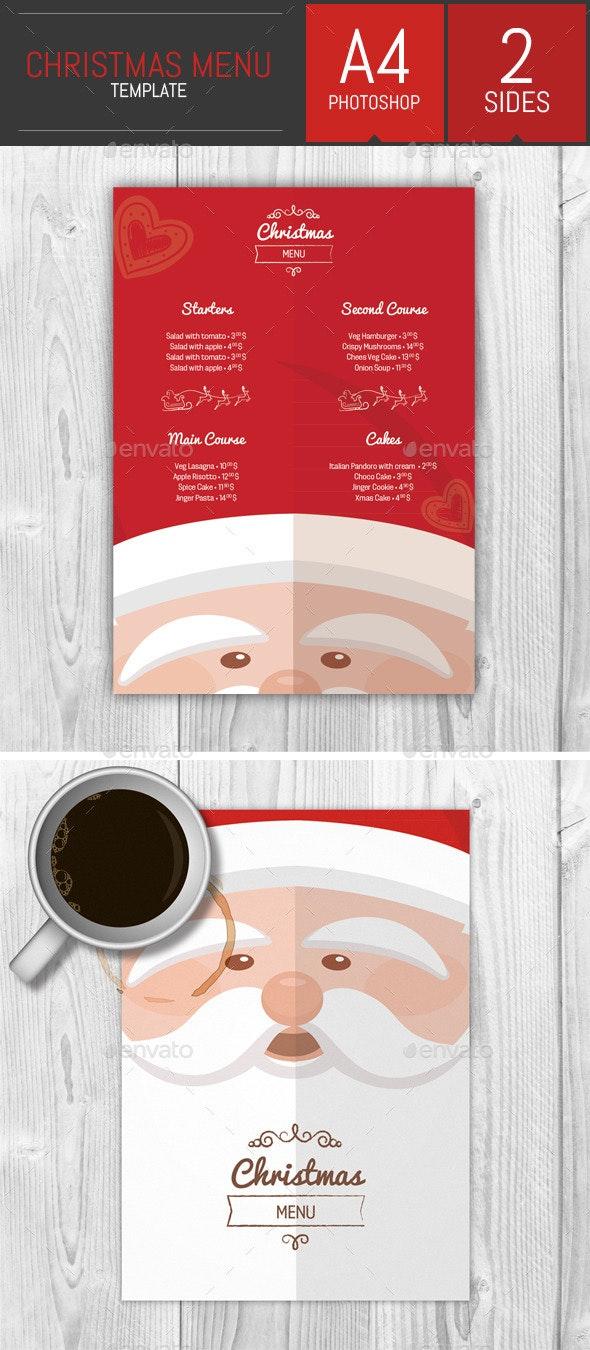 A4 Christmas Menu Template - Food Menus Print Templates